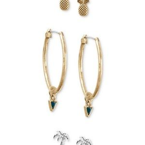 Lucky Brand Two-Tone 3-Pc. Set Earrings